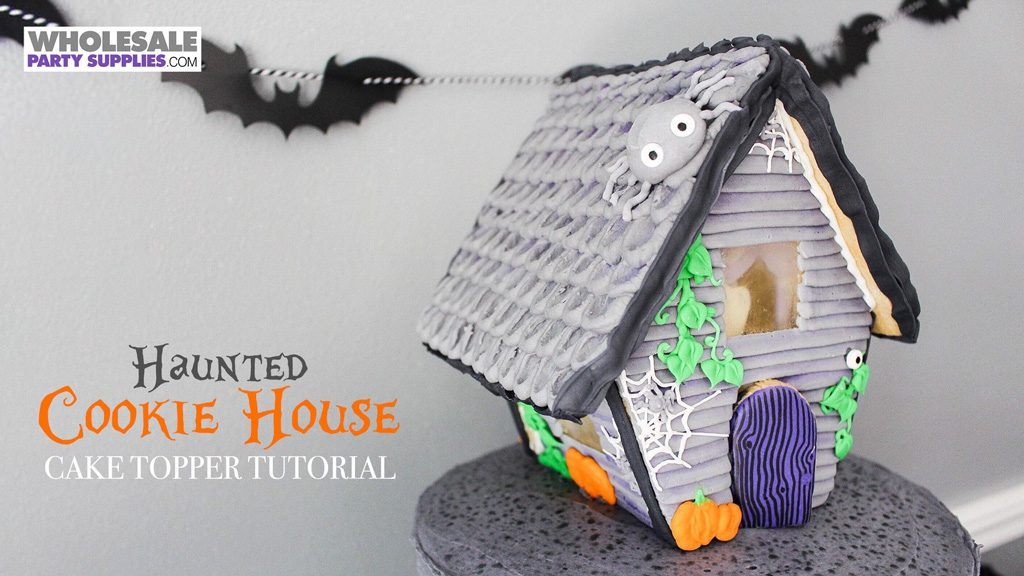 Haunted House Cookie Cake Topper Tutorial