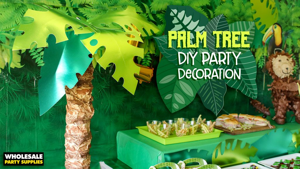DIY Palm Tree Decoration - Pool Noodle Project