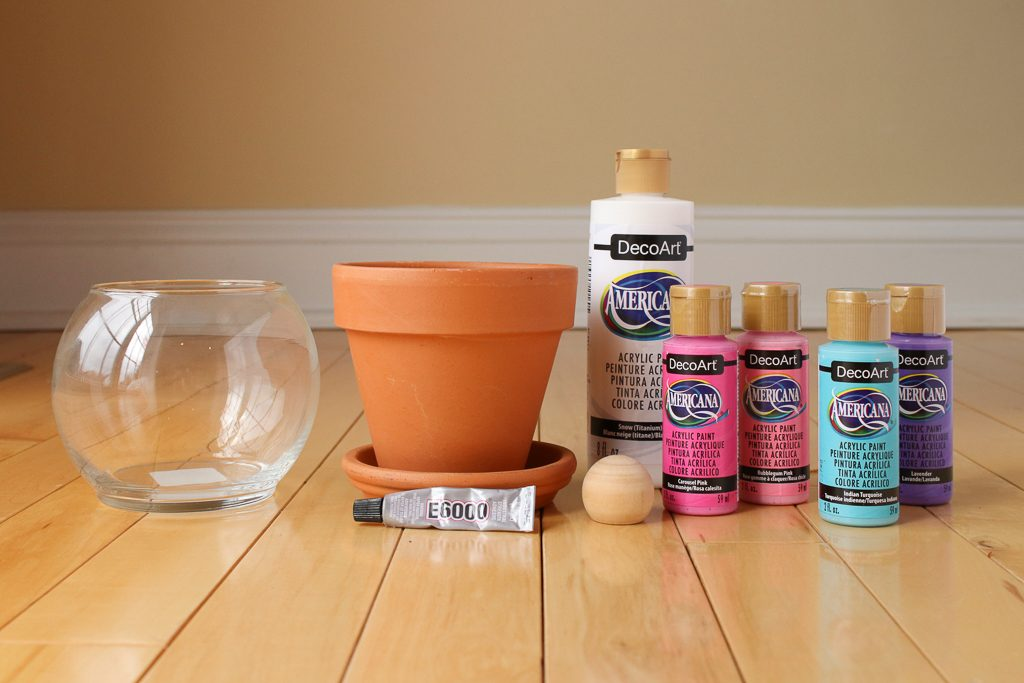 DIY Terra Cotta Candy Container Supplies
