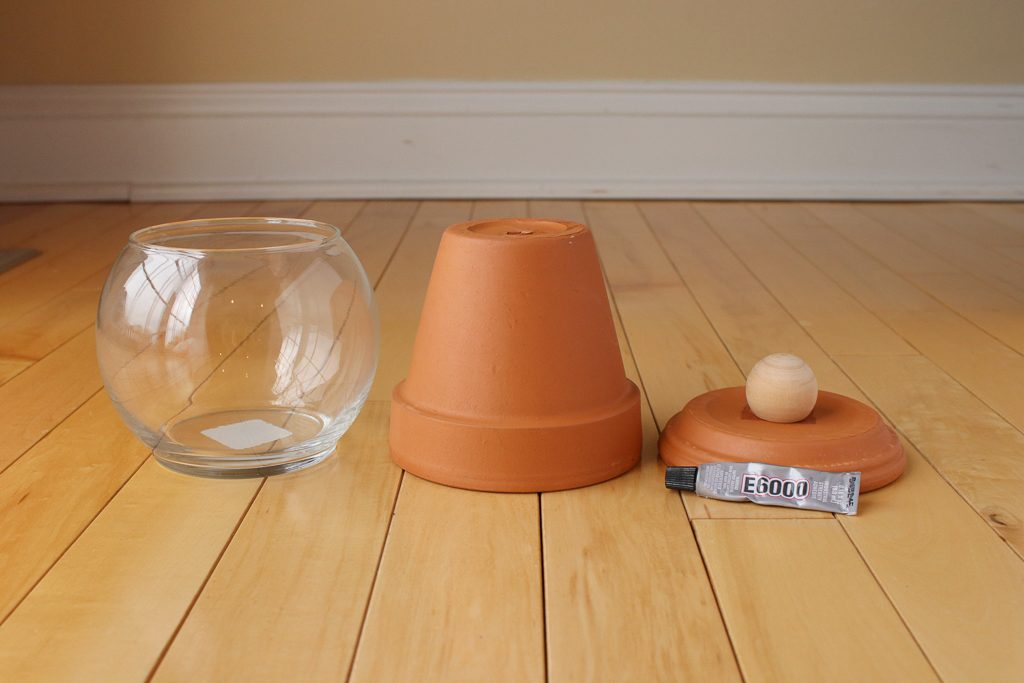 DIY Terra Cotta Candy Container Step 1