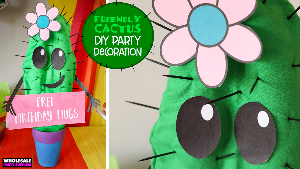 DIY Party Cactus Centerpiece