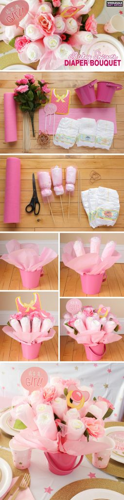 DIY Diaper Bouquet Pinterest Guide
