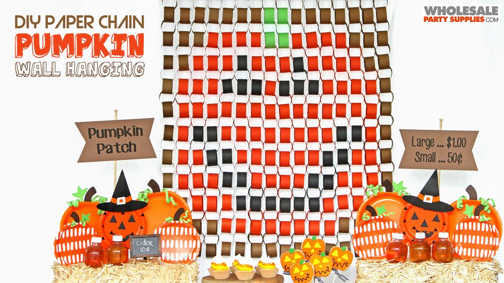 DIY Pumpkin Paper Chain Wall Hanging