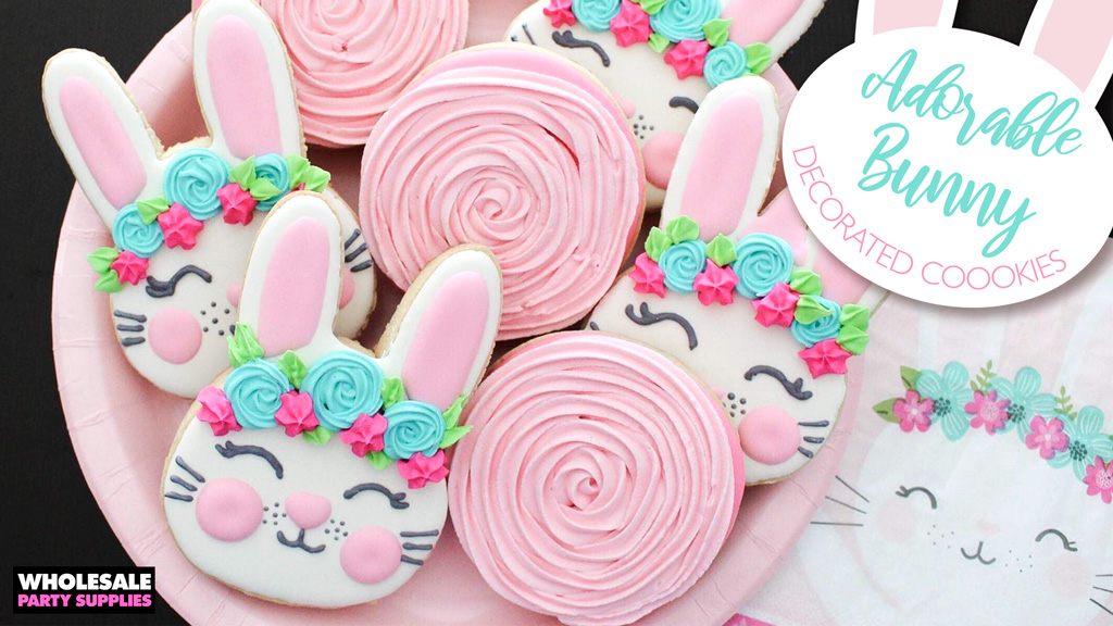 Adorable Decorated Bunny Cookies