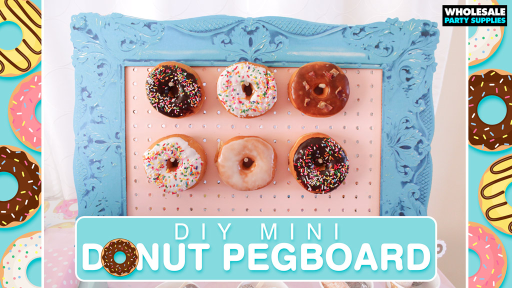 DIY Mini Donut Pegboard