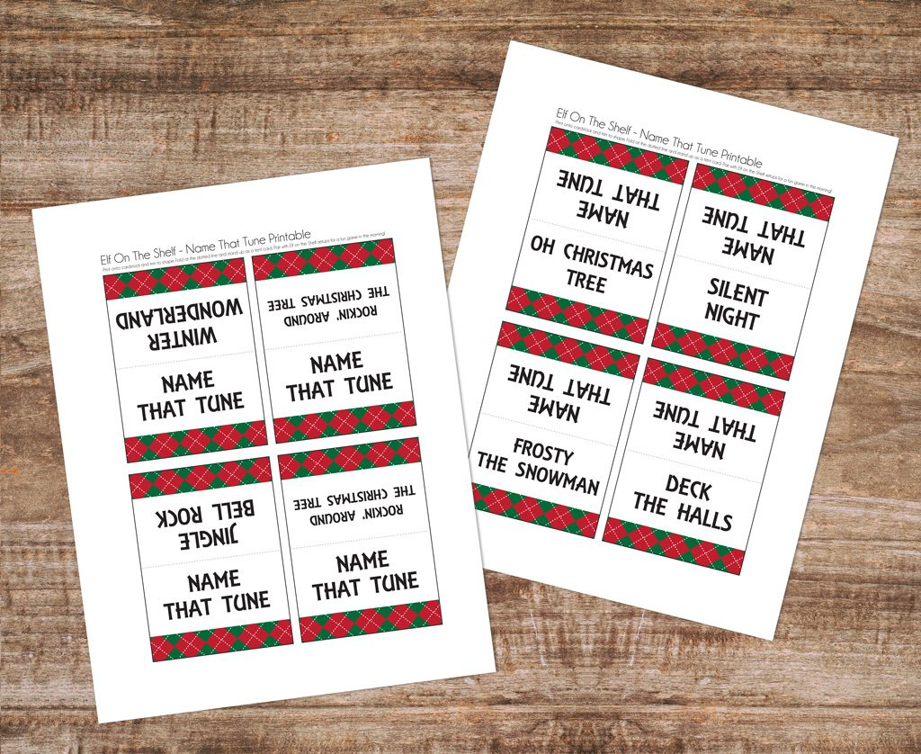 Elf on the Shelf - Name that Tune - Game Printables