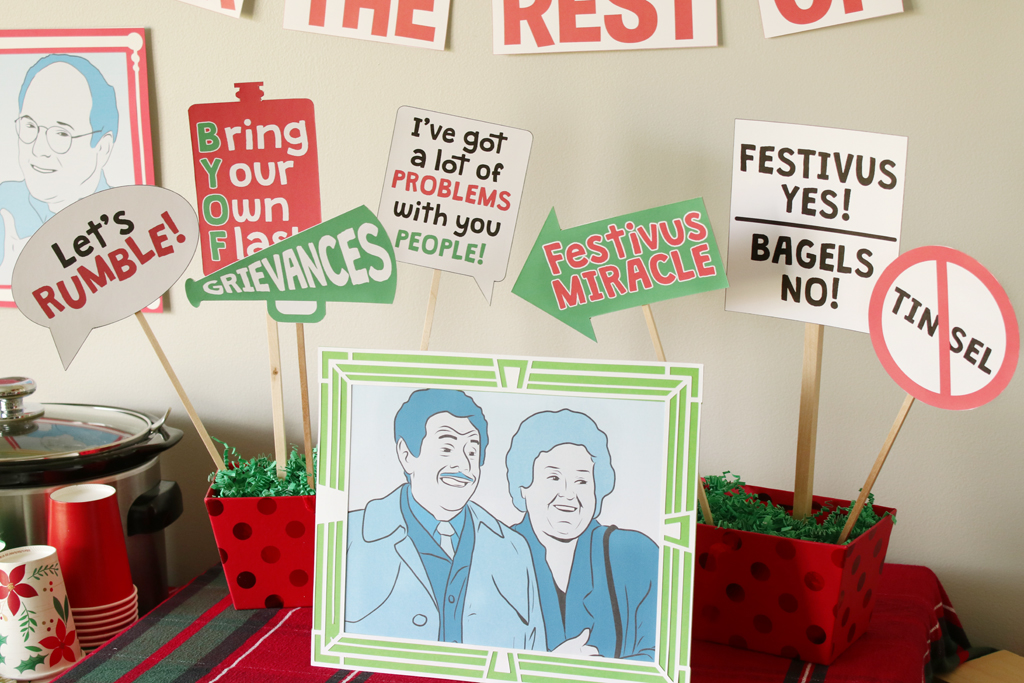 Festivus Party Photo Booth Props
