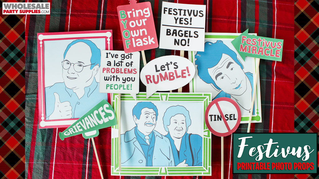 Festivus FREE Printable Photo Booth Props