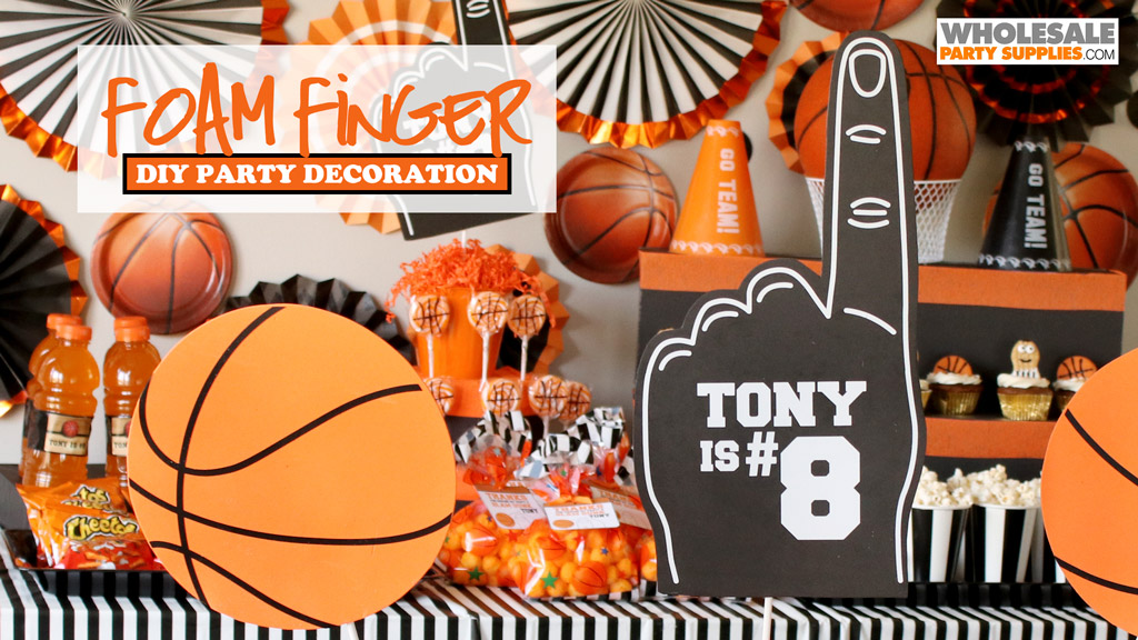 DIY Foam Finger Party Decoration