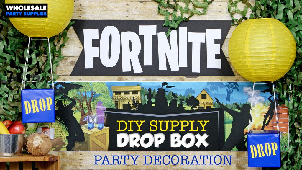DIY Fornite DROP Box Party Decoration Tutorial