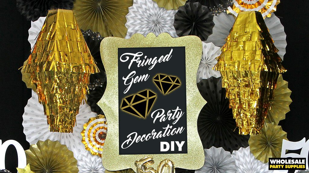DIY Fringed Gem Party Decoration