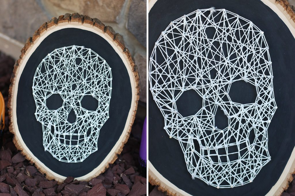 DIY Glowing Skull String Art Step 5