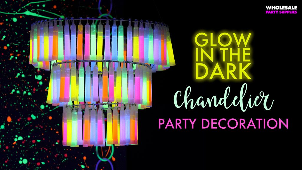DIY Glow in the Dark Chendelier Party Decoration