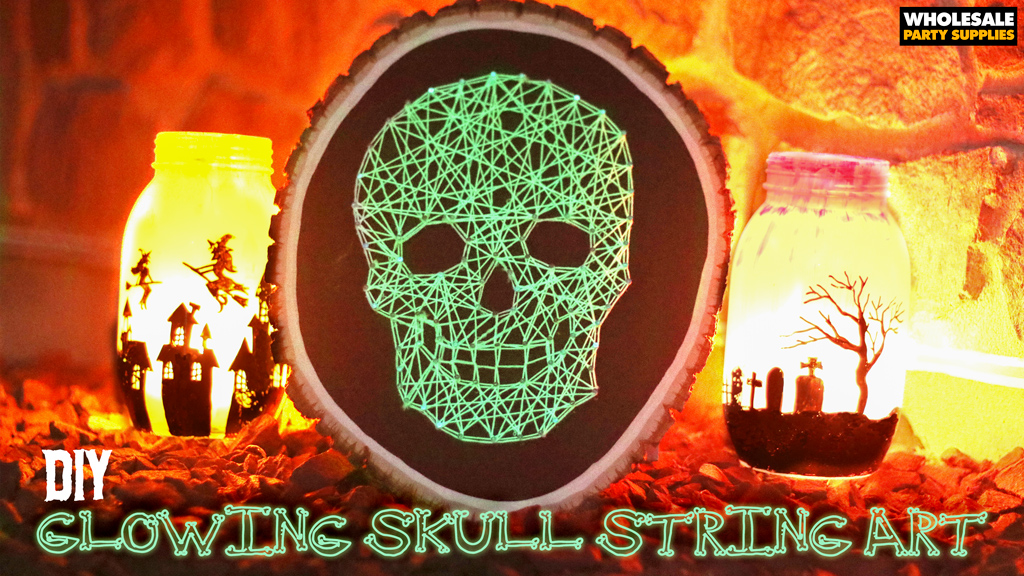 Glowing Skull String Art