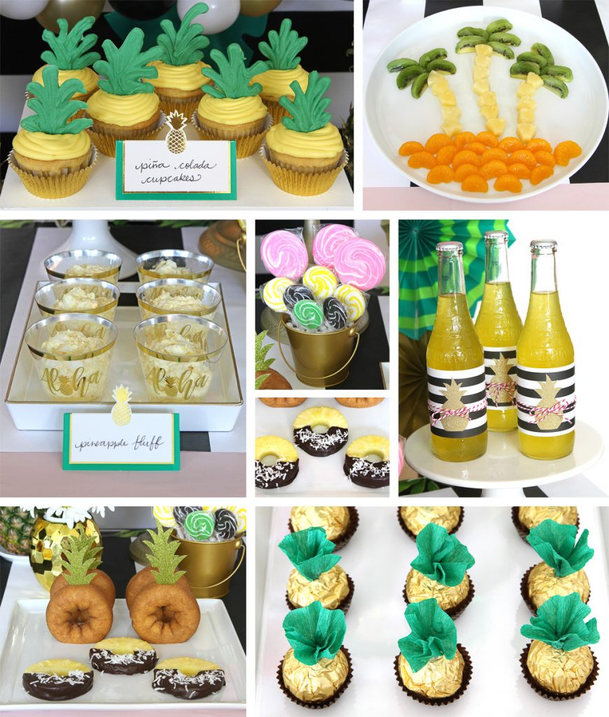 Golden Pineapple Party Food