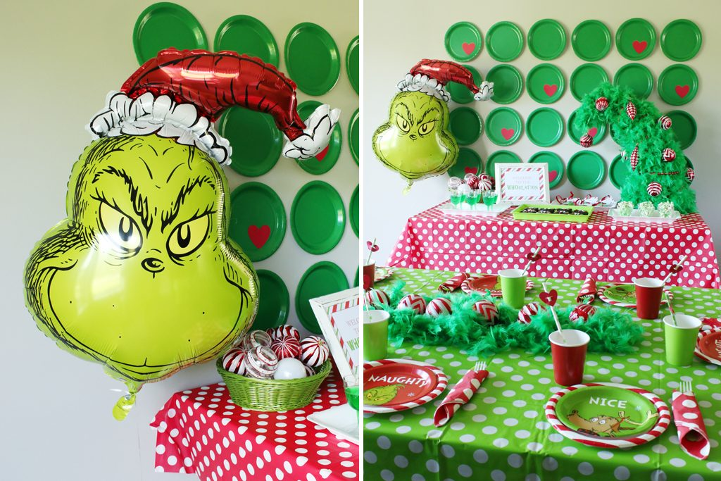 Grinch Party Decoration Details