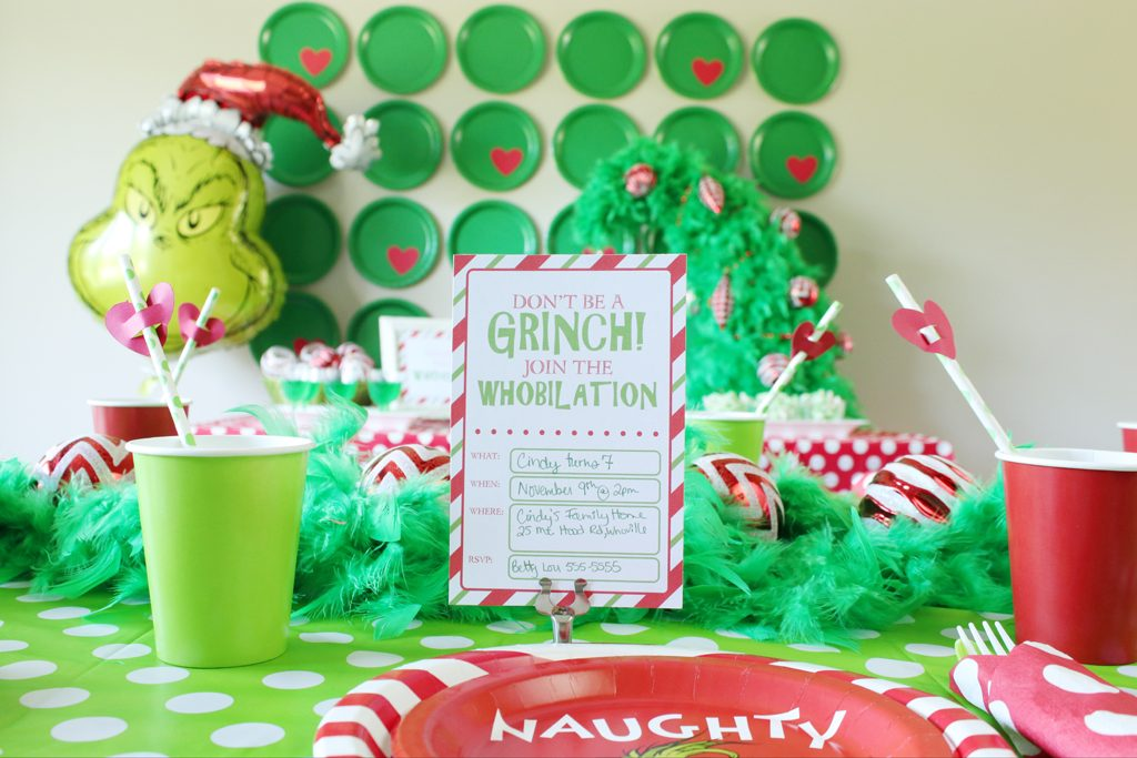 Grinch Party Invites