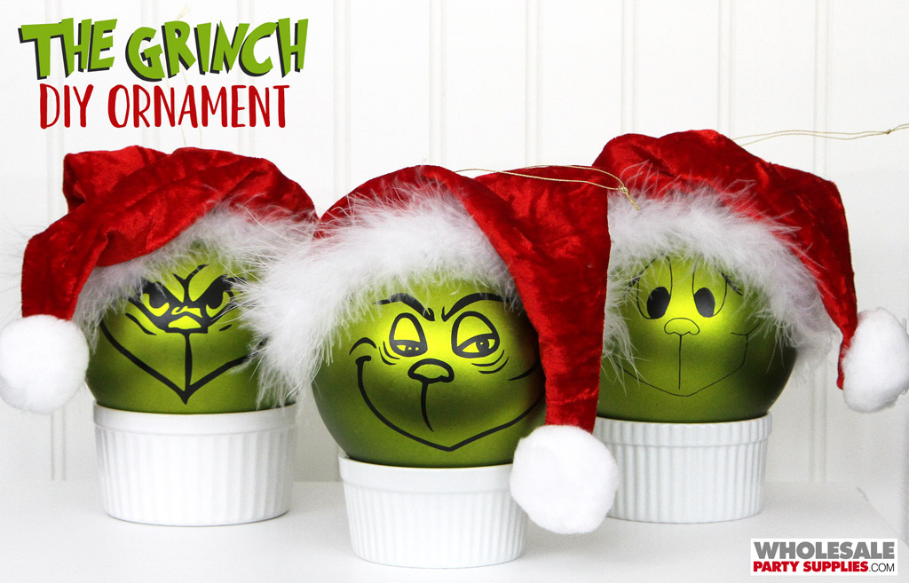 DIY Grinch Christmas Ornament Tutorial and Template