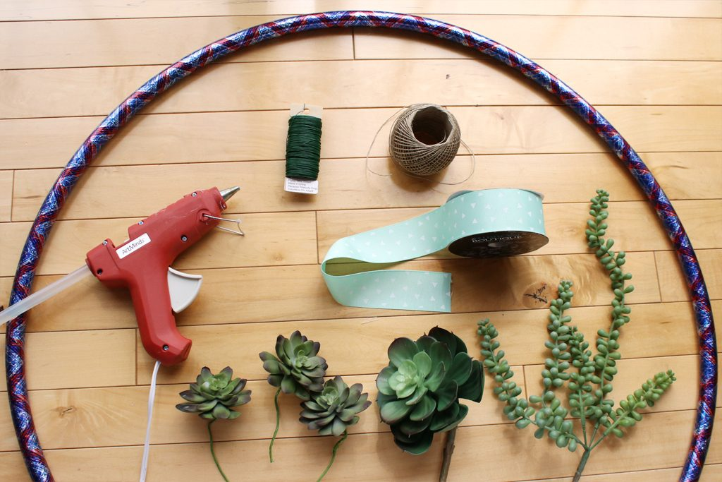 Hula Hoop Succulent Dreamcatcher Supplies