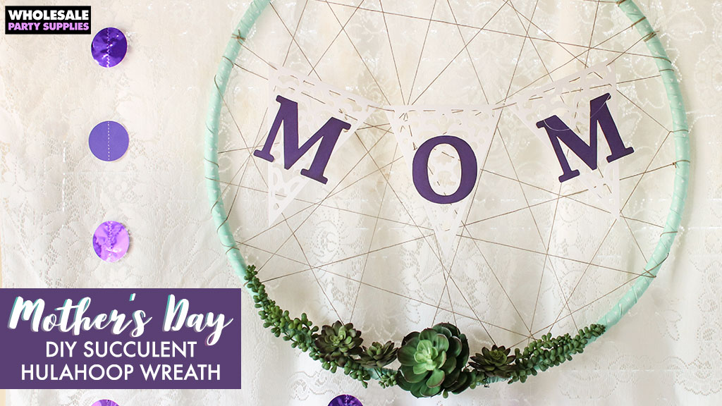 DIY Succulent Dreamcatcher Wreath for Mother's Day