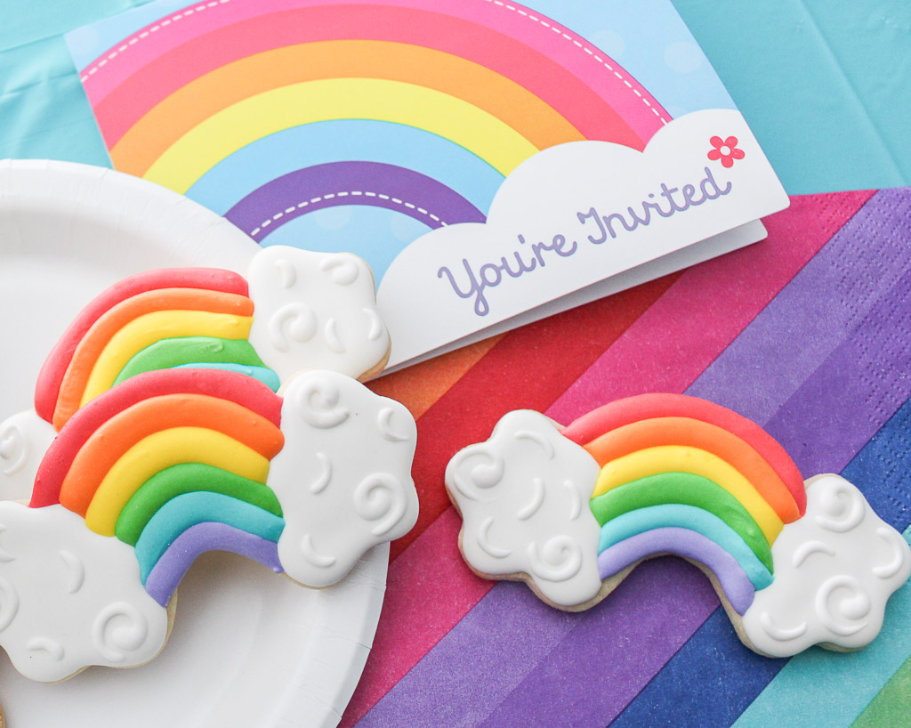 Rainbow and Pot of Gold Decorated Cookie Tutorial