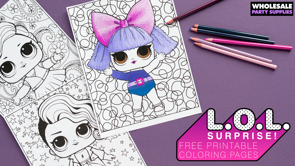 L.O.L. Surprise! Inspired Free Printable Colorign Pages
