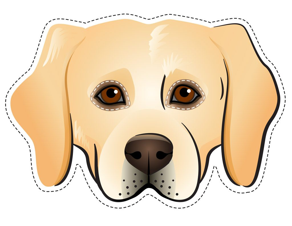 Labrador Dog Face Printable