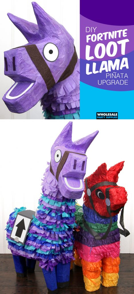 DIY Fortnite Loot Llama Pinata Upgrade Pinterest