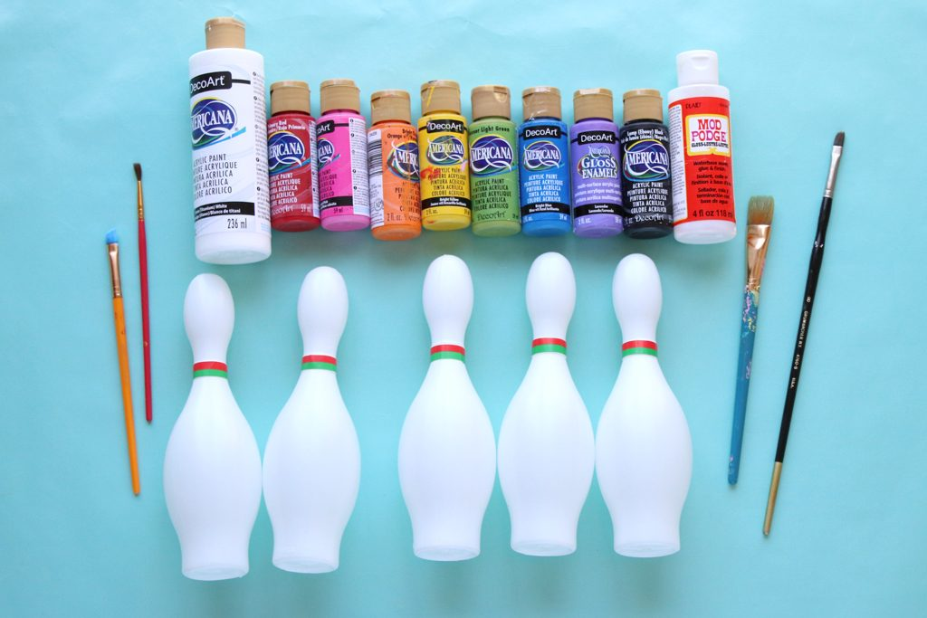 DIY Mickey Mouse Bowling Game Supplies