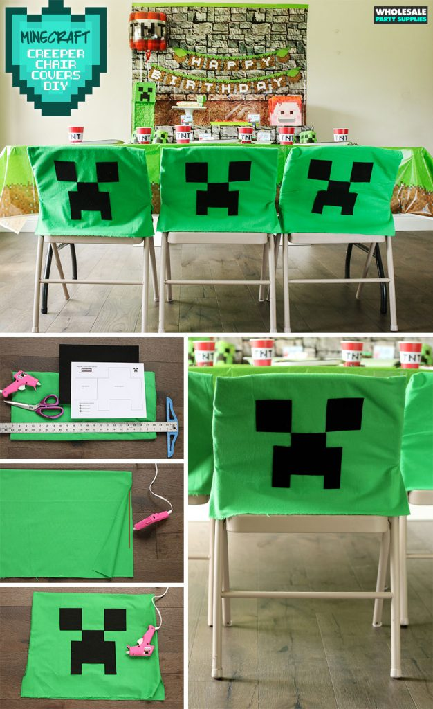 DIY Minecraft - Creeper Chair Cover No-Sew Project