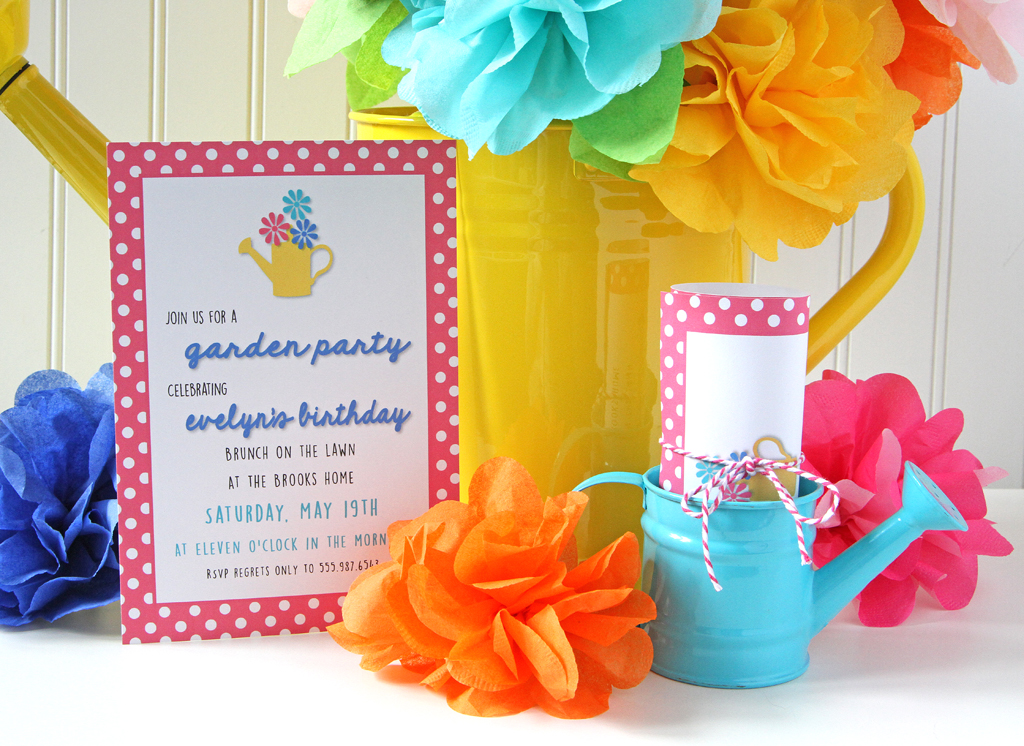 Blooming Garden Party Invitations