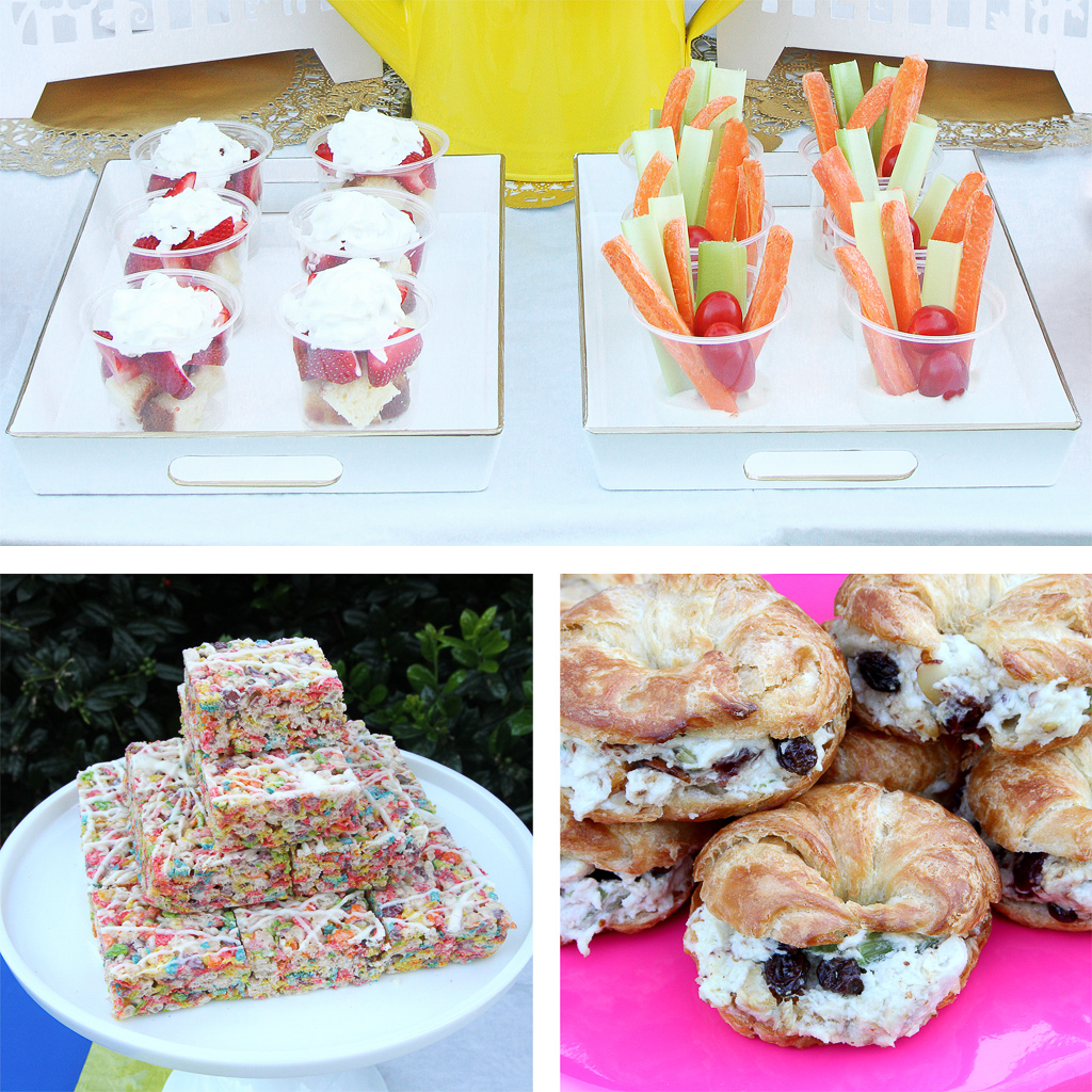 Blooming Garden Party Food