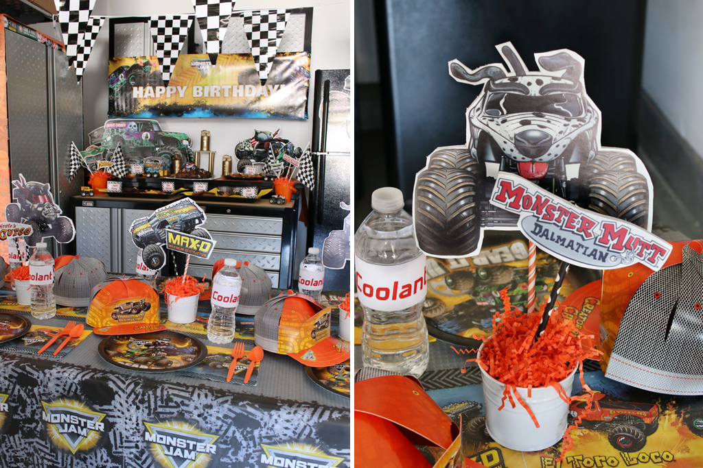 Monster Truck Party Tables