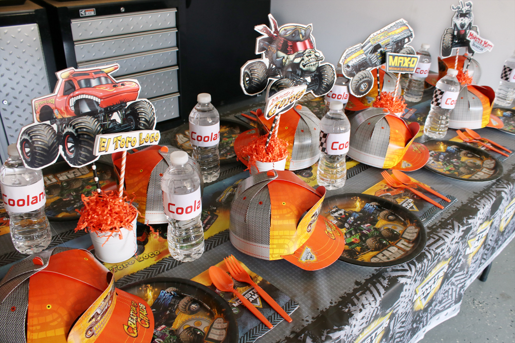 Monster Truck Party Tableware