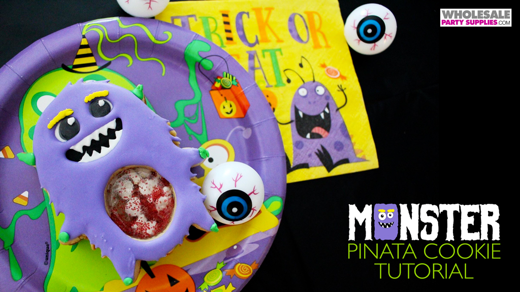 Monster Pinata Decorated Cookies Tutorial