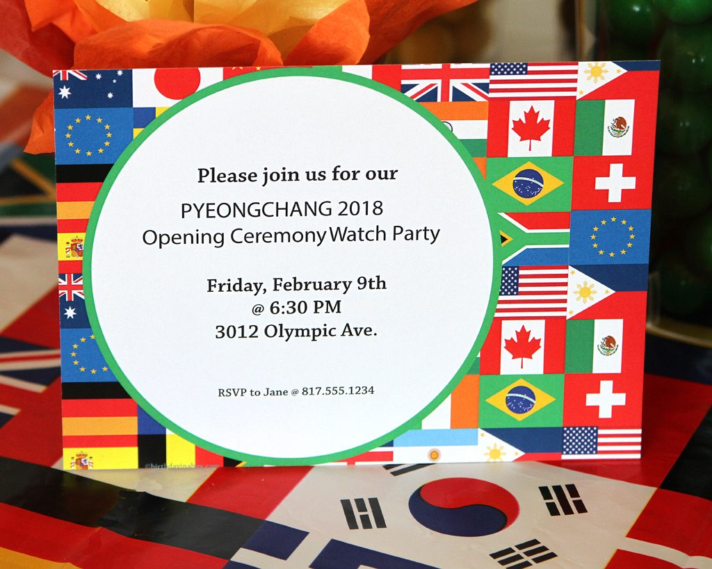 Olympics Watch Party Invitations