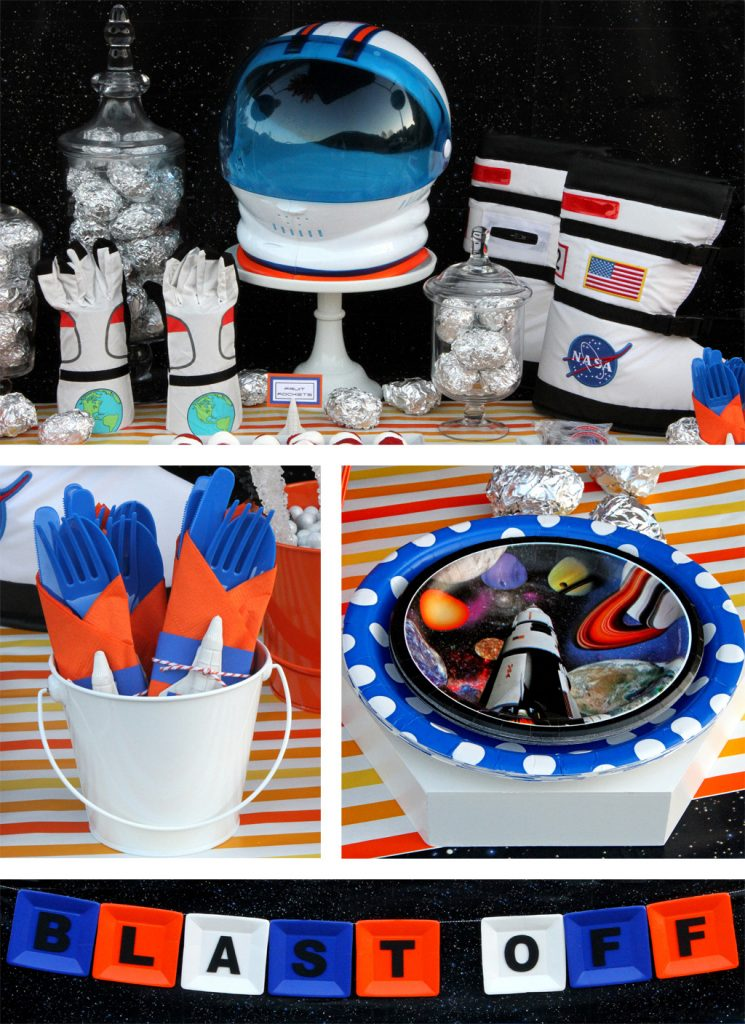 Outer Space Birthday Party Table Details