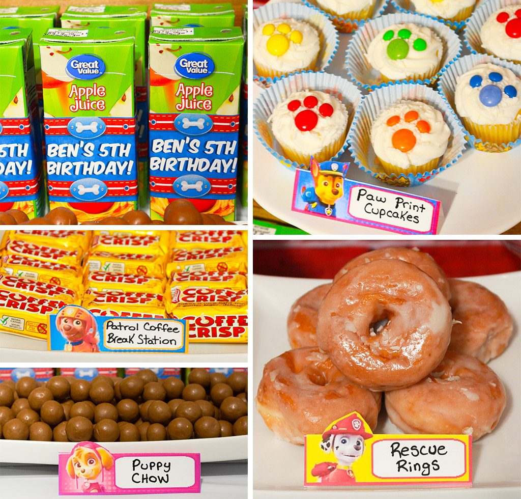Paw Patrol Birthday Party Food