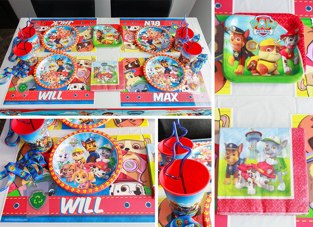Paw Patrol Birthday Party Tableware