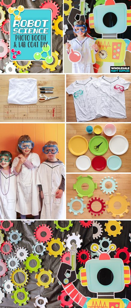 Paper Plate Photobooth and Labcoat DIY Pinterest Guide