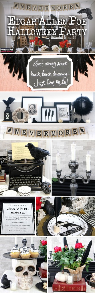Edgar Allen Poe Themed Halloween Party Pinterest Guide