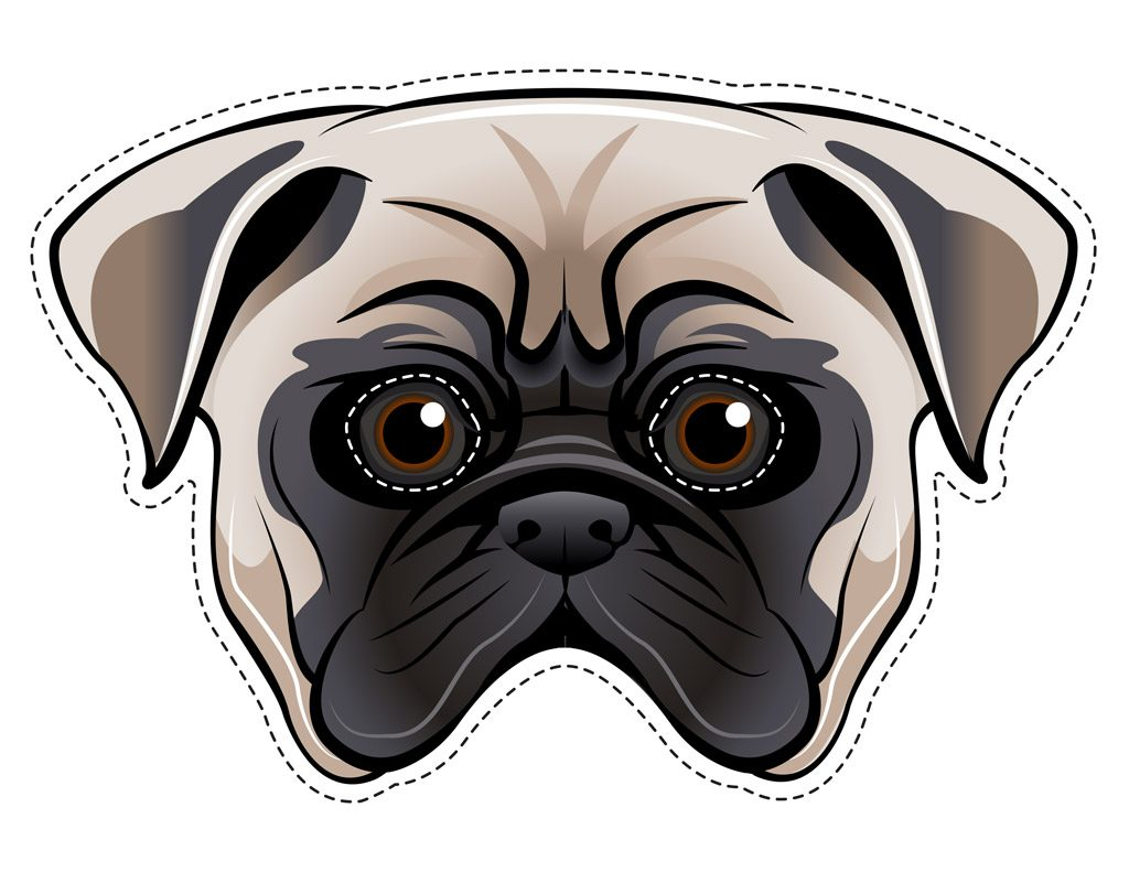 Pug Dog Face Printable