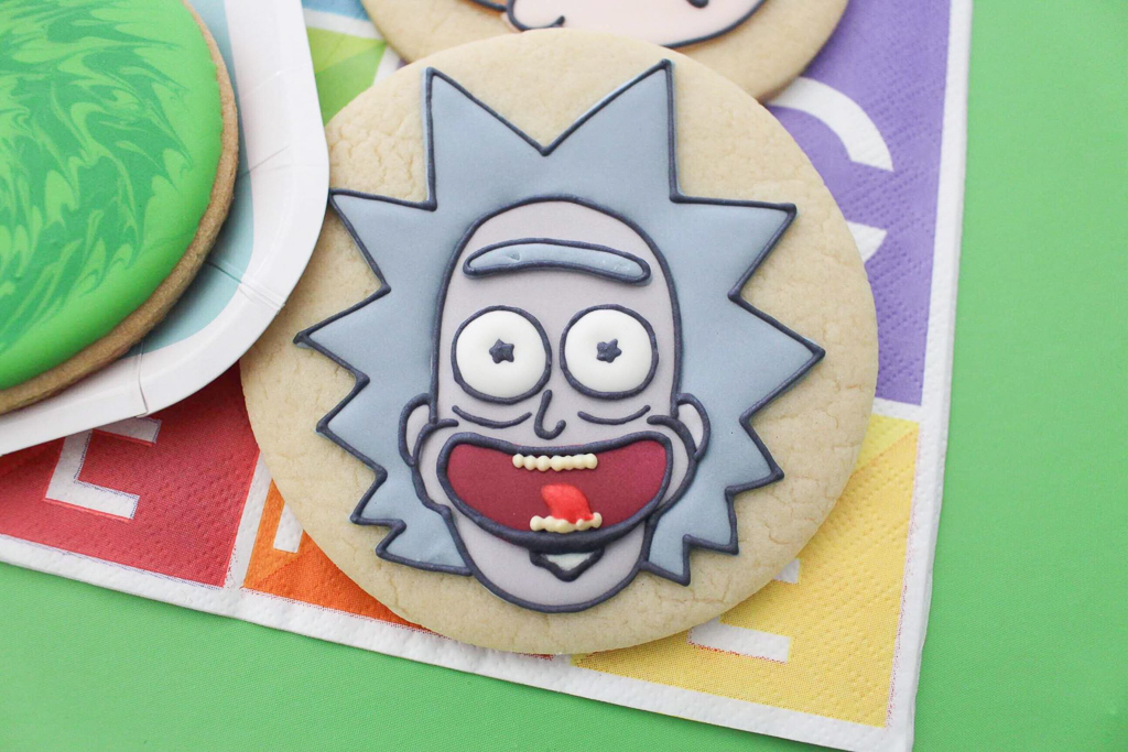 Rick and Morty Decorated Sugar Cookie Tutorial