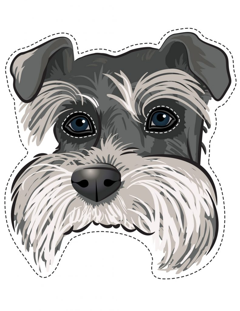 Schnauzer Dog Face Printable