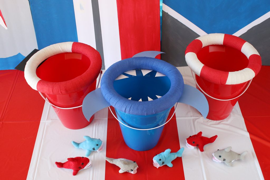 DIY Shark Bean Bag Toss Party Game