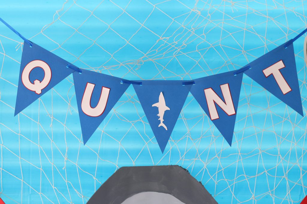 Shark Birthday Party Banner