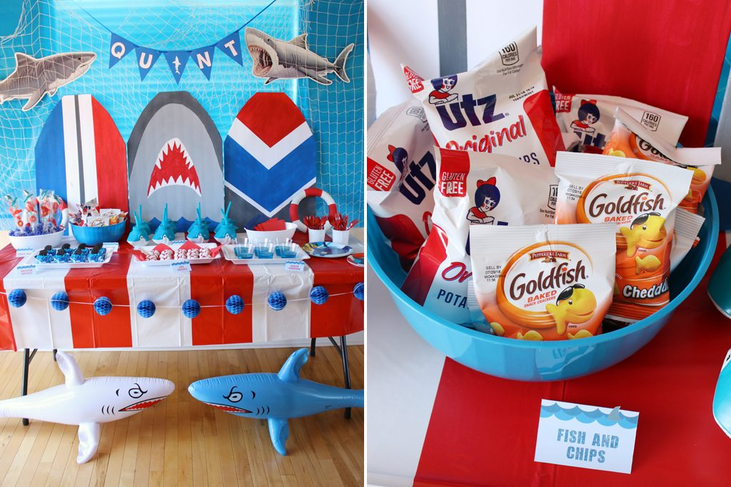 Shark Birthday Party Food Ideas