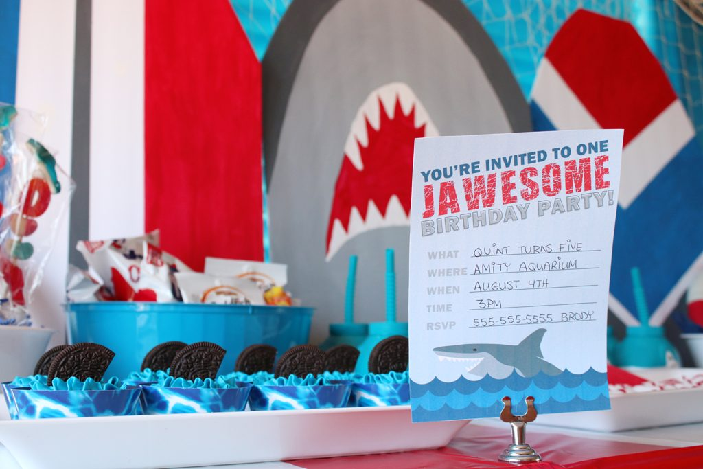 Shark Birthday Party Invites