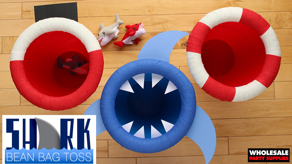 DIY Shark Party Bean Bag Toss