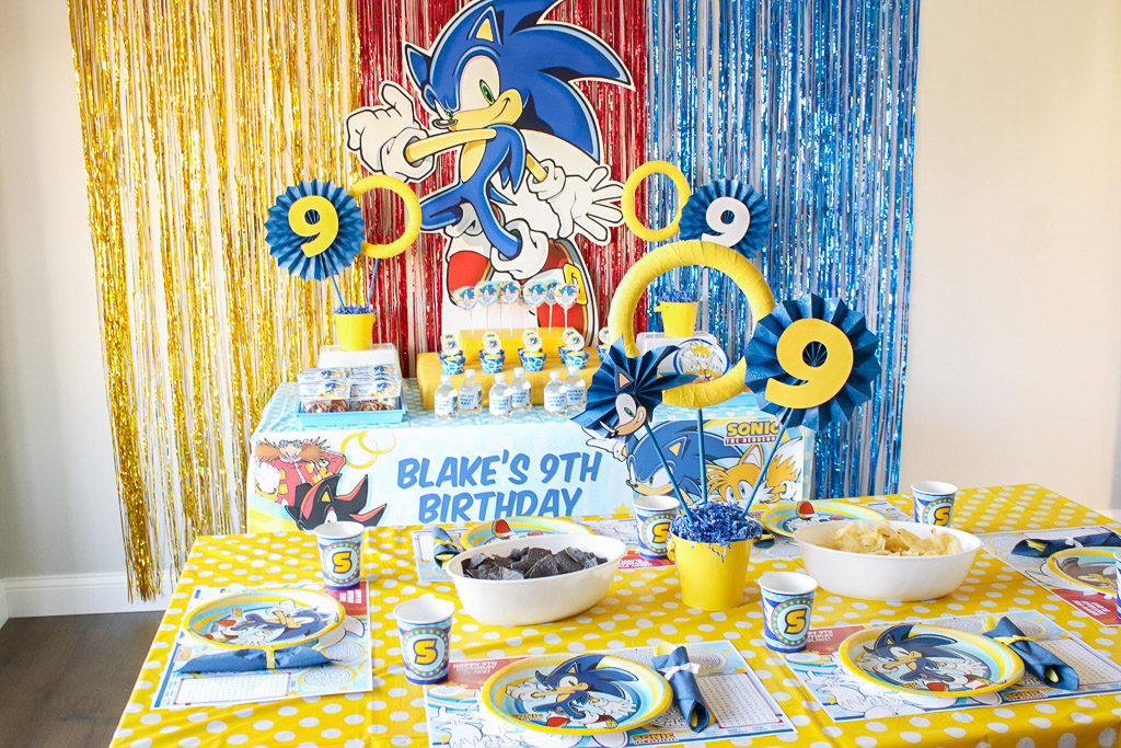 Sonic the Hedgehog Birthday Party Ideas